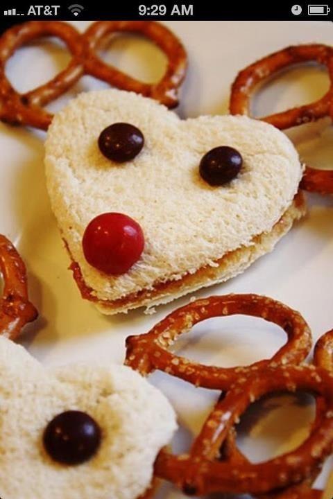 Precious idea for a  Christmas snack (: