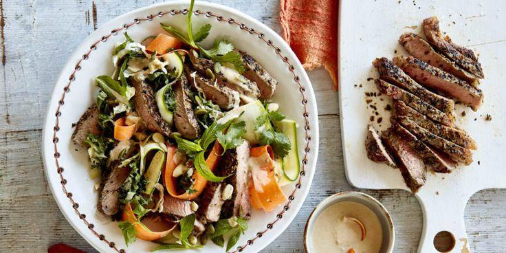 Beef Sirloin Superfood Salad via @iquitsugar