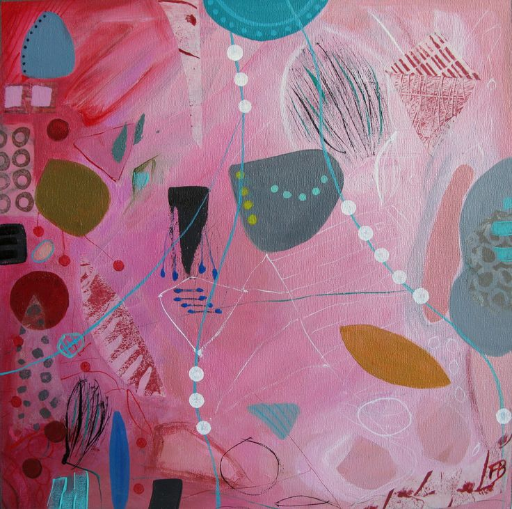 Acrylic and collage on board  Françoise Barnes