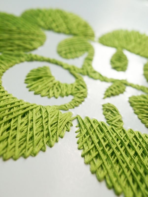 embroidery on paper : create your luck by Yunita Hadinata, via Behance