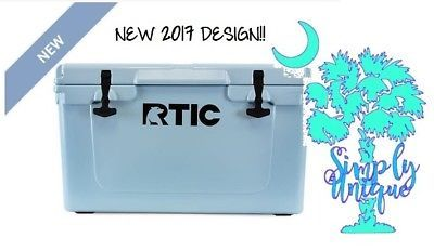 NEW 2017 DESIGN! RTIC 45 Cooler Ocean Blue Beer Bottle Storage FREE SHIPPING!