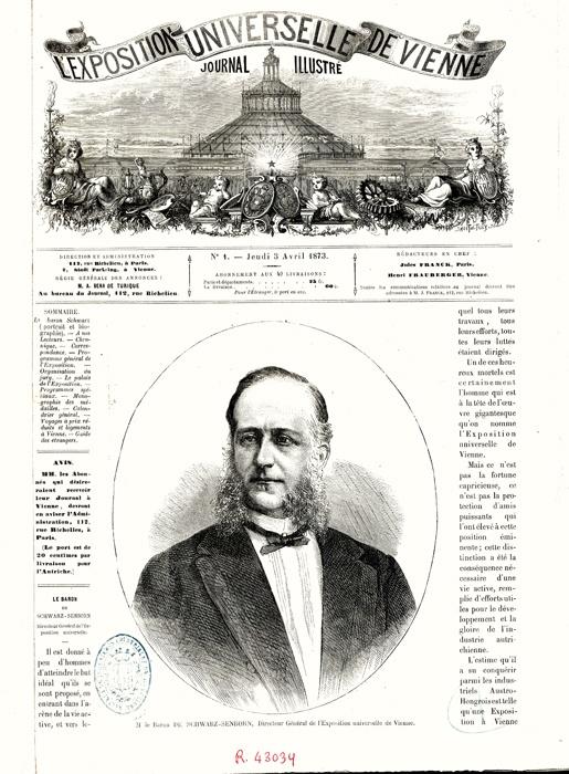 L'Exposition universelle de Vienne: journal illustré: (organe officiel de la Commission royale de Hongria, Autriche). Paris : Typ. Lahure, [1873]-