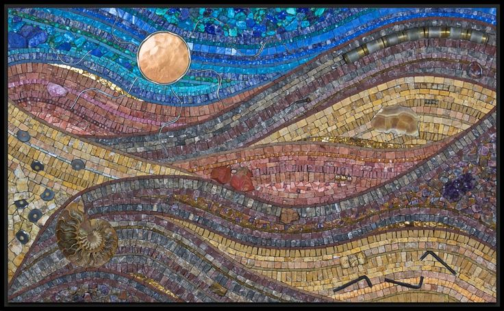 Jacqueline Iskander, 2012, marble, travertine, smalti, mosaic gold, jasper, lepidolite, amethyst, ammonite fossil, agate, rhodonite, pink sapphire, turquoise, sodalite, lapis, onyx, glass, hardware, used nipper blades and grinder bits, spring clips