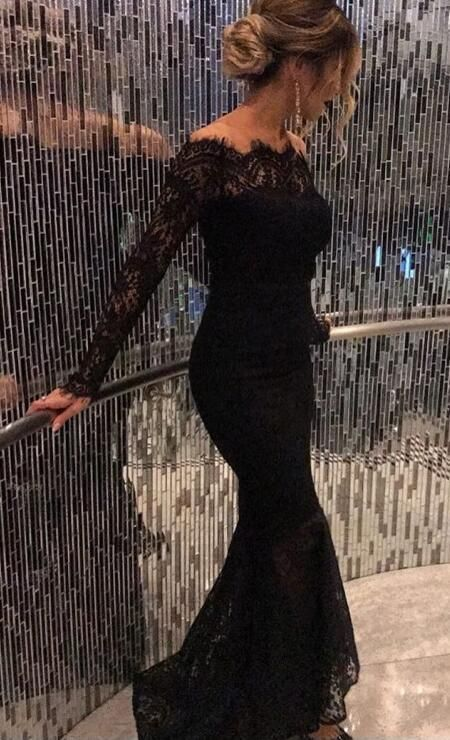 Elegant Prom Dress, Lace Prom Dress,Sexy Long Sleeve Prom Dress,Cheap Prom Dress,Long Prom Dress, Lace Evening Dress,Formal Gown