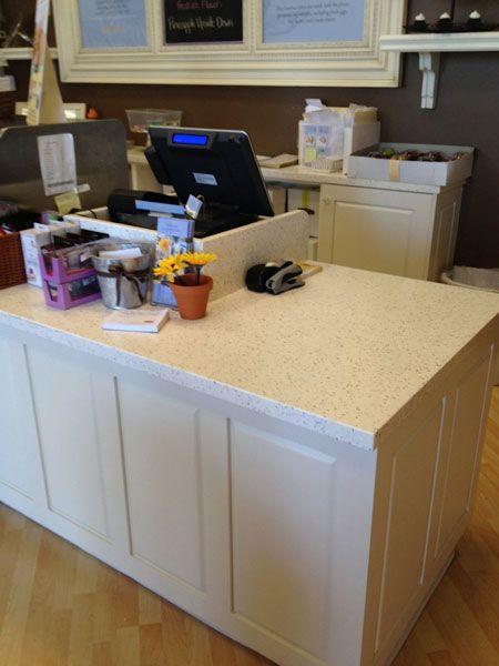 beige countertop foundations wrap countertop retail cash avonite ...