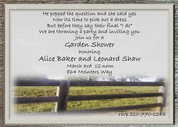 Summer Party invitations country fence