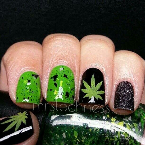 33 Best Hemp Nail Art Tutorial & Marijuana Video Gallery