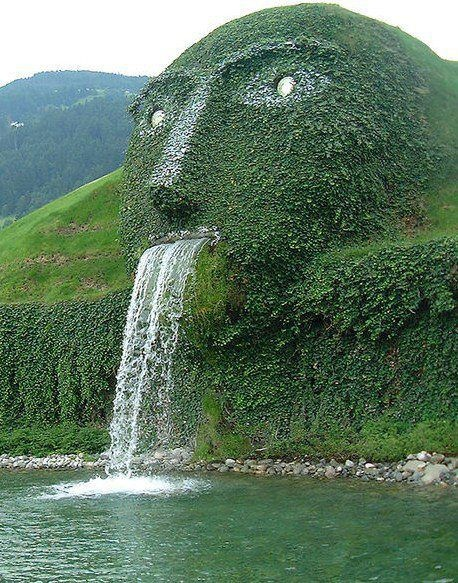 Man and waterfall: Lemonade Mouth, The Fountains, Water Fountains, Swarovski Crystals, Place, Weights Loss, Entrance, Swarovski Kristallwelten, Innsbruck Austria
