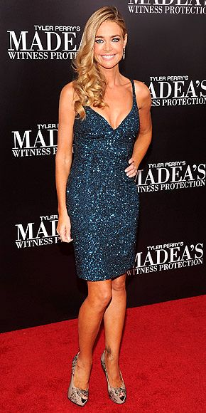 At the premiere of Madea, @Denise_Richards stood out in a blue sequin dress and Effy Diversa earrings!