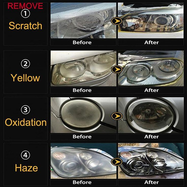 9h auto quick car headlight cleaning polish how to clean