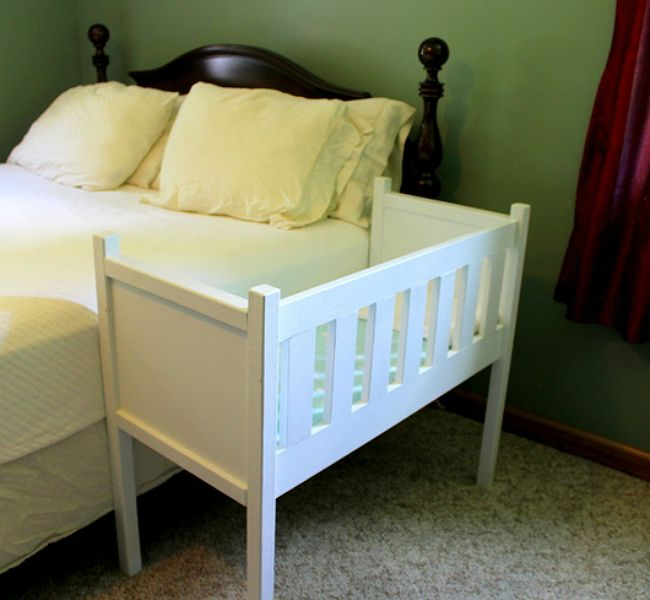 How to turn a crib into a co sleeper double decker crib for Double decker crib