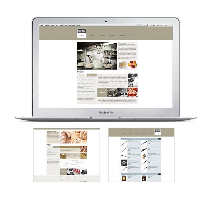 Ontwerp en realisatie website 'Van Tim patisserie'.