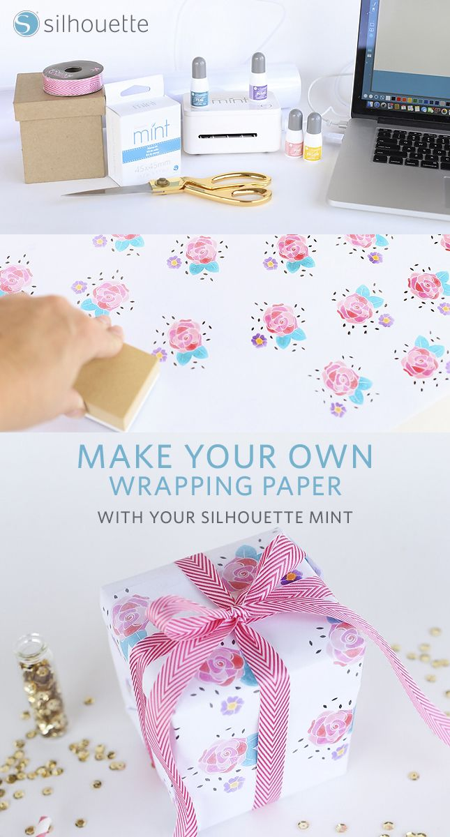 DIY Wrapping Paper using the Mint