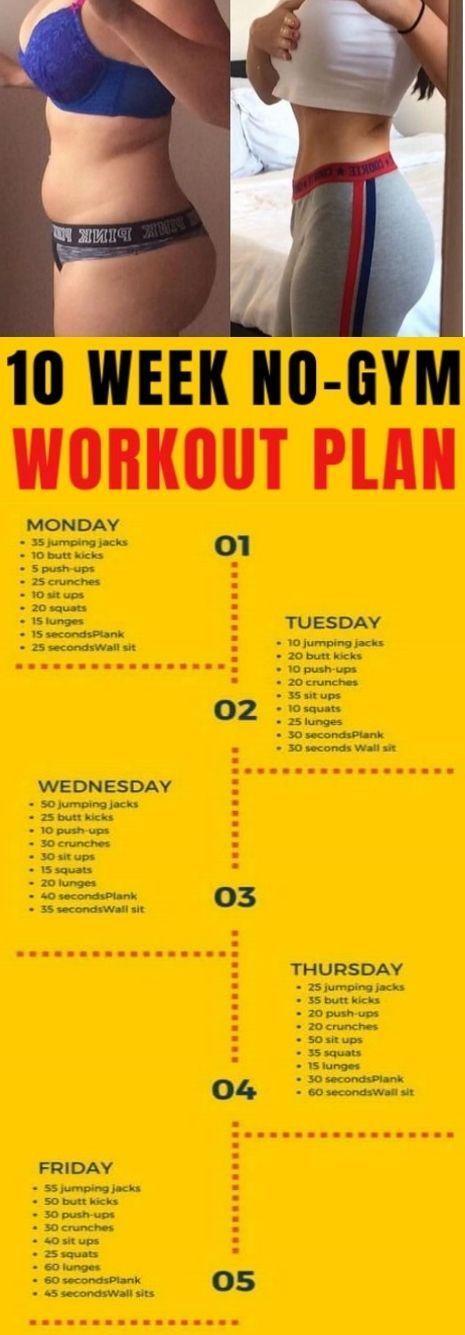 10-wöchiger Trainingsplan für zu Hause, der garantiert Fett verbrennt #fitnes