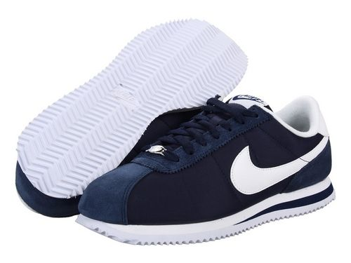 navy blue nike cortez shoes man