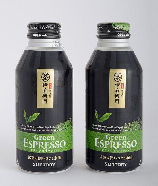 サントリー緑茶 伊右衛門 グリーンエスプレッソ ボトル缶 http://www.pinterest.com/chengyuanchieh/japanese-packaging/
