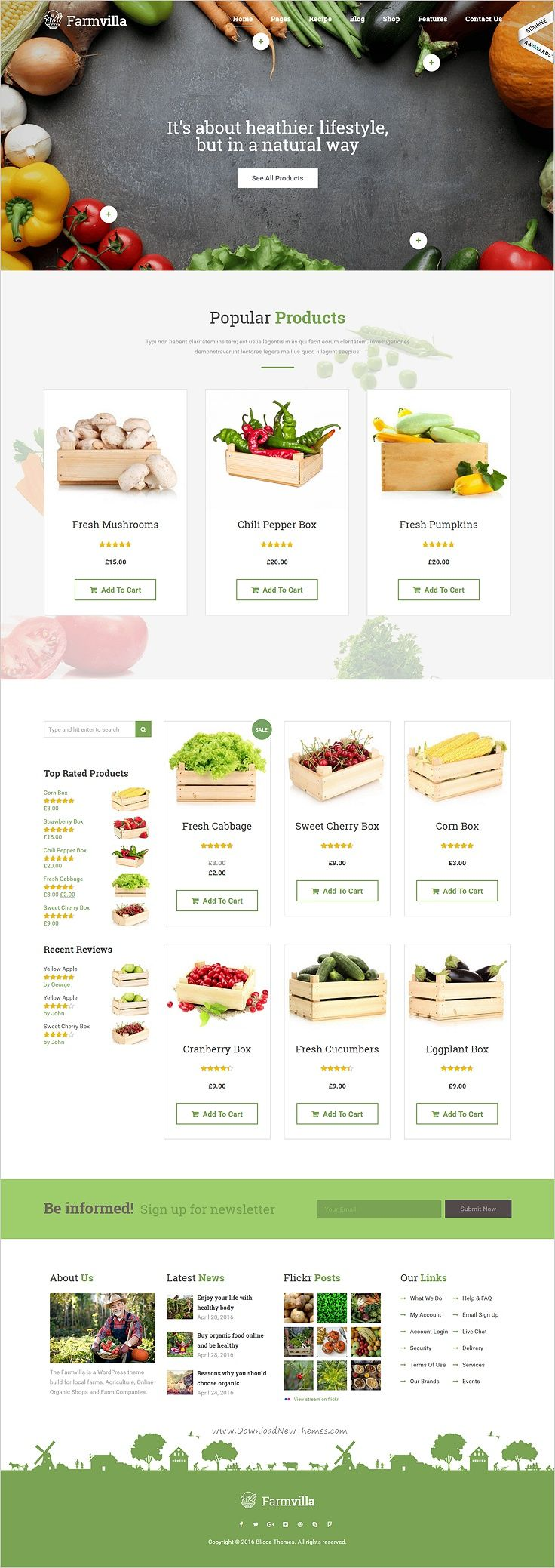 Farmvilla is a clean and modern #WordPress theme for organic #food #shop website with 6 amazing responsive homepage layouts download now➯ https://themeforest.net/item/farmvilla-organic-food-wordpress-theme/16226773?ref=Datasata