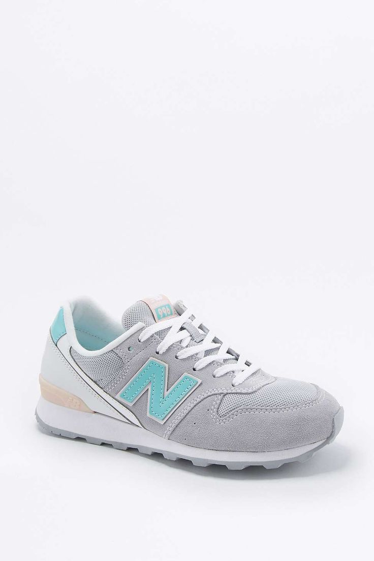 New Balance 996 Grey and Turquoise Running Trainers