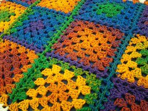 #Crochet Rainbows are so hot right now! Make yourself this colorful #afghan. #AllFreeCrochet
