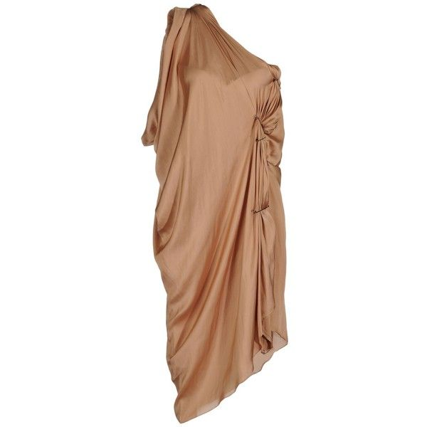 LANVIN one shoulder draped Short dress ($1,225) ❤ liked on Polyvore