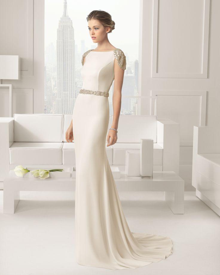 Rosa Clara Wedding Dresses 2015 Collection Part I. To see more: http://www.modwedding.com/2014/07/16/rosa-clara-wedding-dresses-2015-collection-part/ #wedding #weddings #wedding_dress