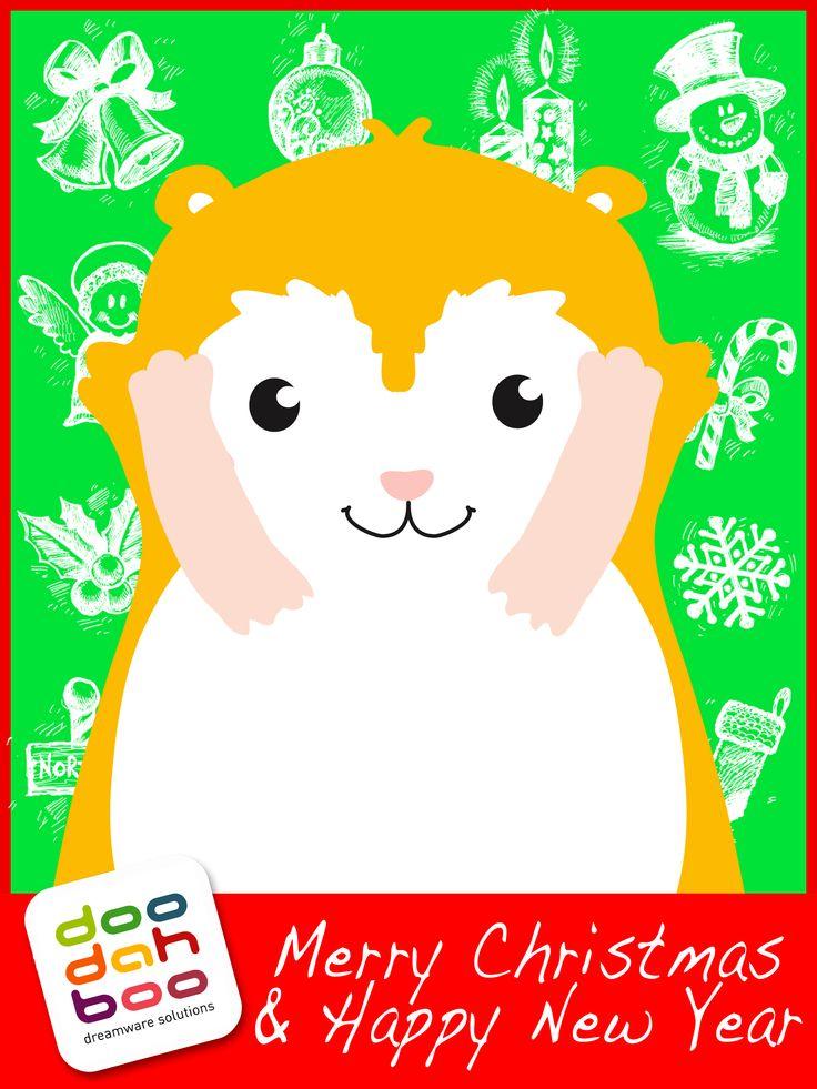 Hamster Christmas Greetings Card
