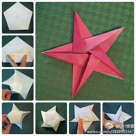 hvězda z pětiúhelníku - How to fold a star