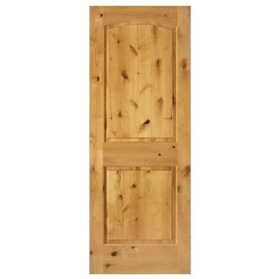 Steves Sons 30 In X 80 In Knotty Alder Wood Wood Unfinished 2 Panel Round Top Slab Door