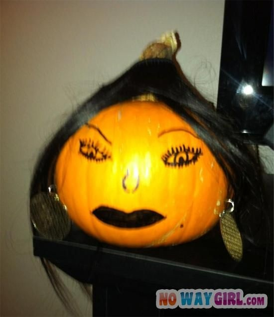 Ghetto Halloween Pumpkin With Lace Front Weave