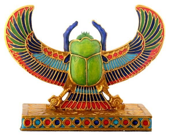 Winged Scarab Egyptian Decor