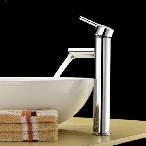 "New 12"" Modern Contemporary Bathroom Faucet Vessel Sink, Single Handle - Nickel #Unbranded"