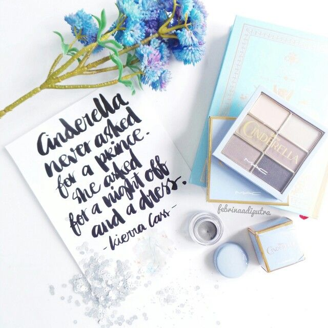 #cinderella #makeup #blue #lettering #typography #brushlettering #quotes