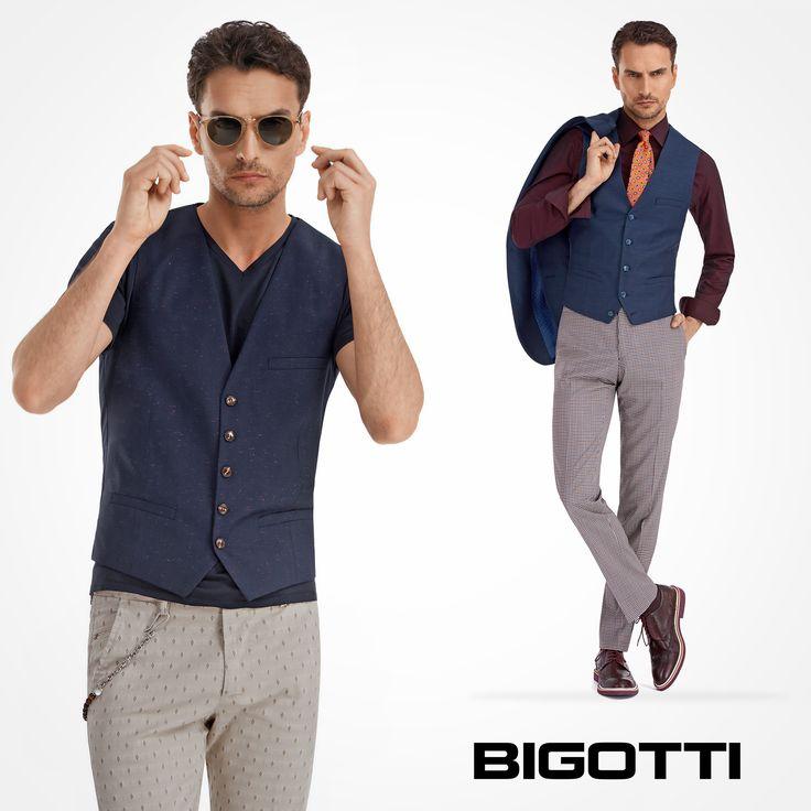 From #cool to #formal, the #waistcoat is one of the most #versatile #items you can have in your #wardrobe www.bigotti.ro #follow #Bigottiromania #mensfashion #moda #barbati #vesta #stofa #reduceri #promotie #discounts #sales #menswear #mensclothing #smartcasual #stylish #stylingtips #mensstyle