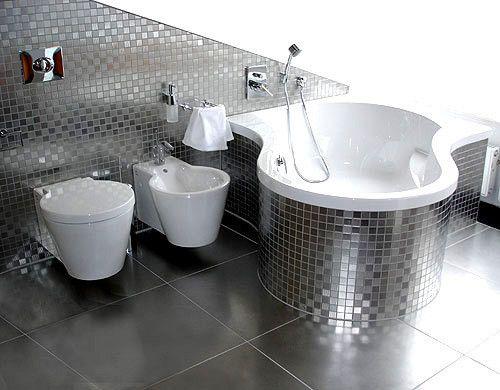 Серебрянная ванная комната