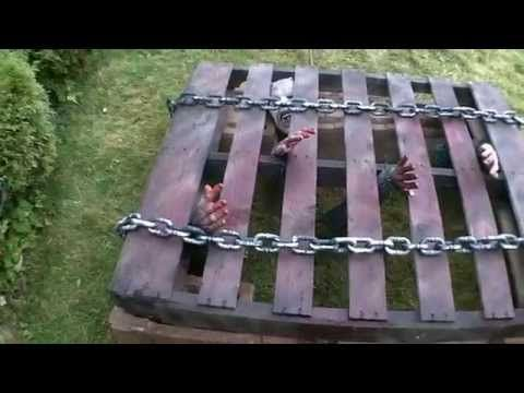 diy halloween zombie pit youtube - Homemade Outdoor Halloween Decorations