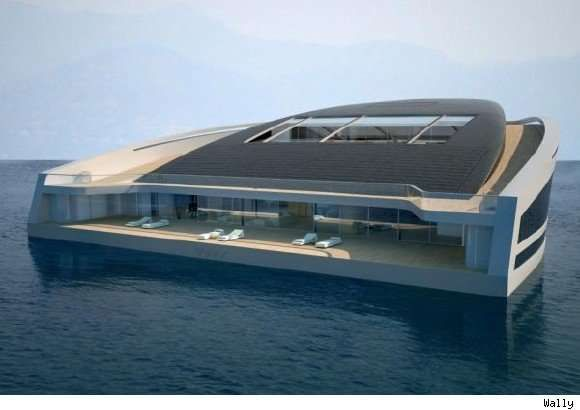 Floating Island Boats - Wally and Hermes Yacht WHY 58x38 is More Island Than Yacht (GALLERY)