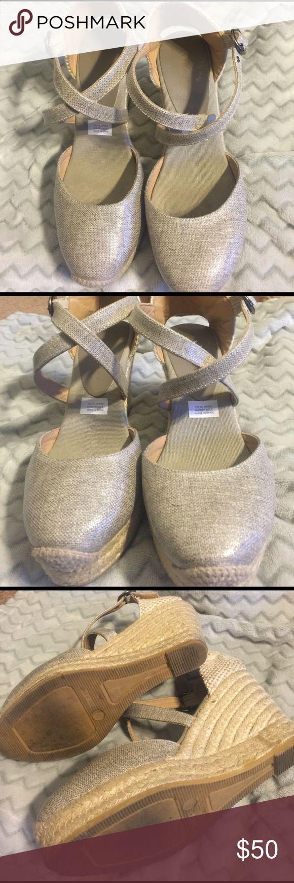 Silver espadrilles Bettye muller silver espadrilles.  Size 39 bettye muller  Shoes Espadrilles