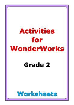 90 pages of worksheets to go along with the WonderWorks Interactive Worktext (McGraw-Hill) for grade two