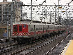 A Metro-North Railroad New Haven Line train at Stamford.