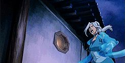 Kya, the waterbending daughter of Avatar Aang and Katara, is very casually water-slapping an airplane OUT OF THE SKY