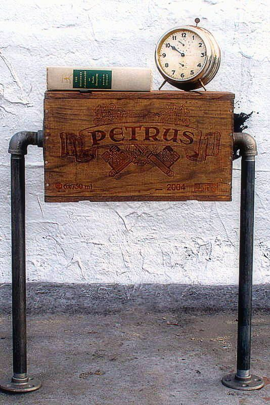 Wine Crate and Pipes Table #upcycled #repurposed