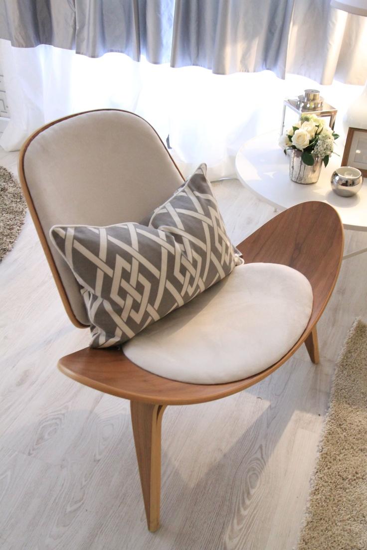 design chair, grey walls, white, vintage design furniture,