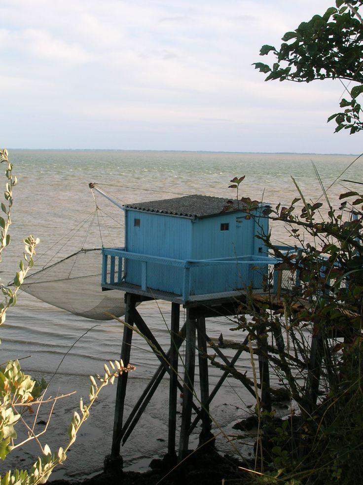 Carrelet, cabane de pêcheurs, à Talmont sur Gironde