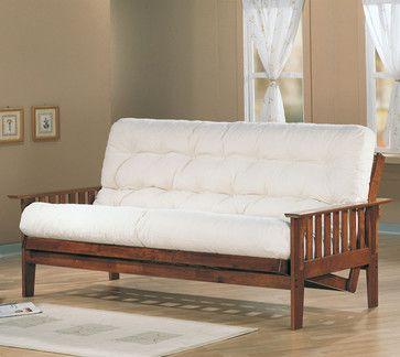 Oak Transitional Futon Frame transitional-sofa-beds