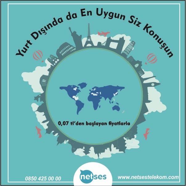 En Avantajlı Yurt dışı Tarifeleri Netses Telekom'da!! Bilgi İçin=>http://bit.ly/2kAJa9H #Netses #Telekom #Yurtdışı #Tarifeleri #Uygun #Fiyat