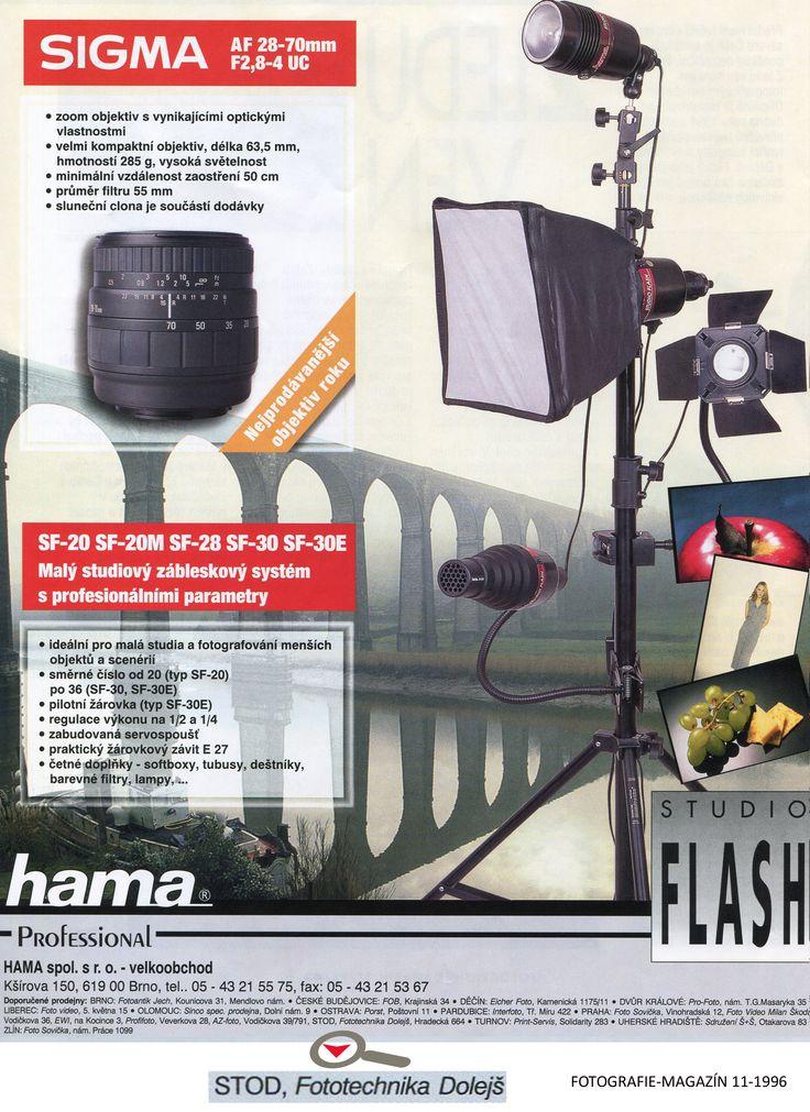 Časopis: FOTOGRAFIE-MAGAZÍN 1996-11  Doporučené prodejny: Fototechnika Dolejš Zadavatel inzerce: Hama s.r.o.. Formát: A4
