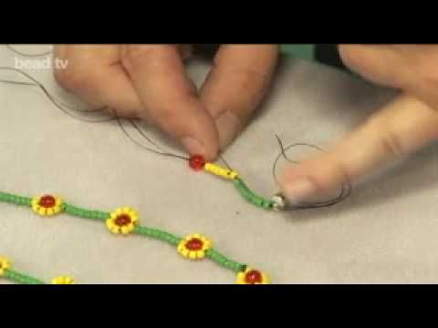 Make a Simple Daisy Necklace Tutorial by Jane Leivens from Beads Unlimited