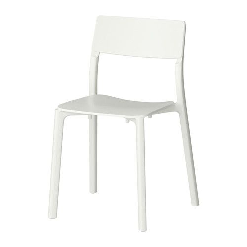 IKEA - JANINGE, Chair, You can stack the chairs, so they take less space when you're not using them.You can start using the chair immediately because it is pre-assembled.