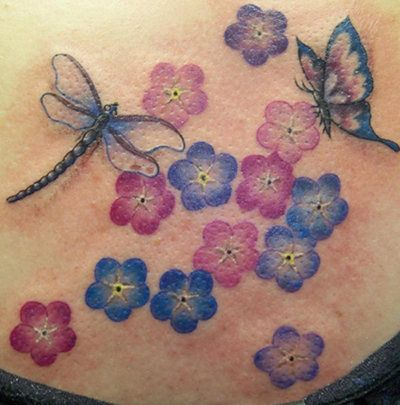 butterfly dragonfly tattoo for girls