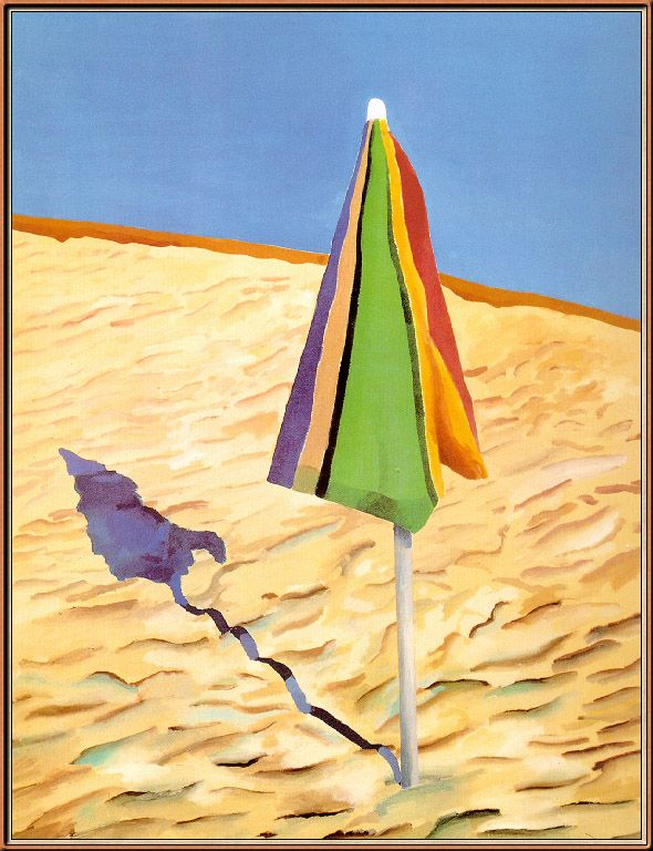 My all time favorite Hockney. Beach Umbrella. 1971.